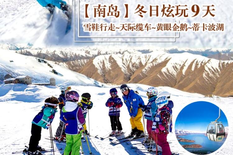 【新西兰南岛9天~雪鞋行走~天际缆车~黄眼企鹅~蒂卡波湖 】
