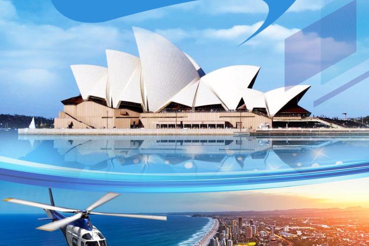 澳大利亚大堡礁乐淘精华8天游参考 (6晚)广州往返 布进悉出