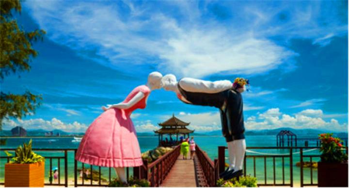 【春節海南旅游 特價款】蜈支洲島+南山+天涯海角+天堂森林公園+千古情景區+玫瑰谷雙飛6日游